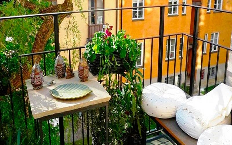 best decorate small balconies with charm