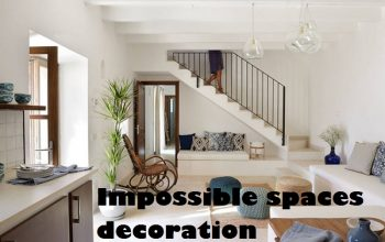 Decorative solutions for impossible spaces at home