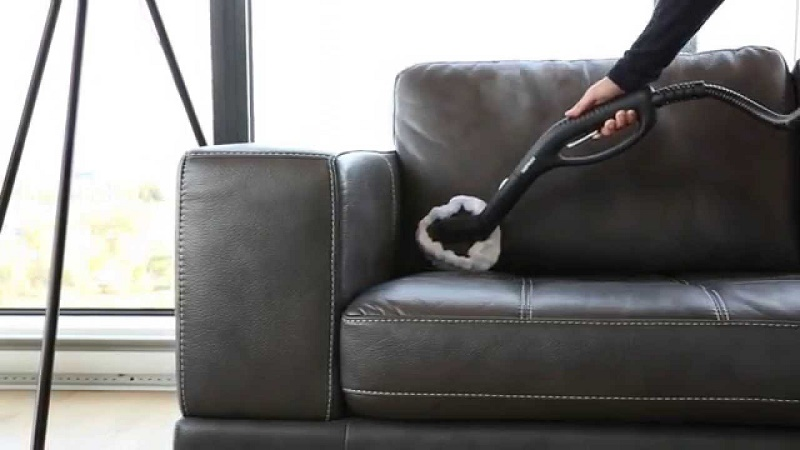 clean leather sofa upholstery