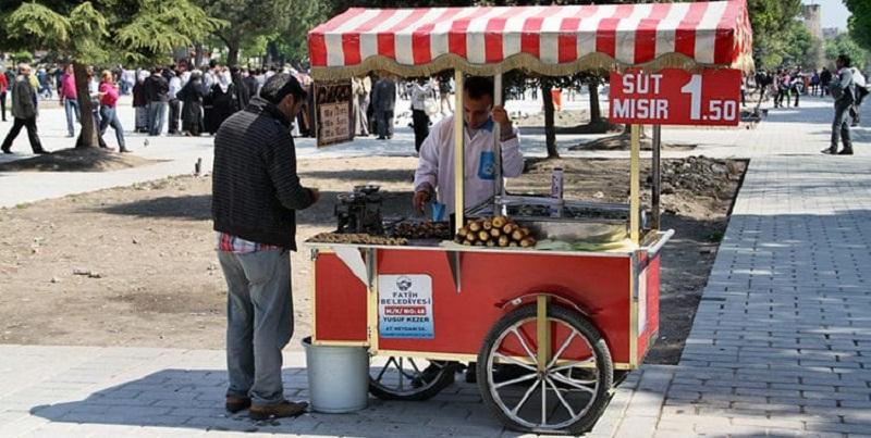 Sale foods on the street