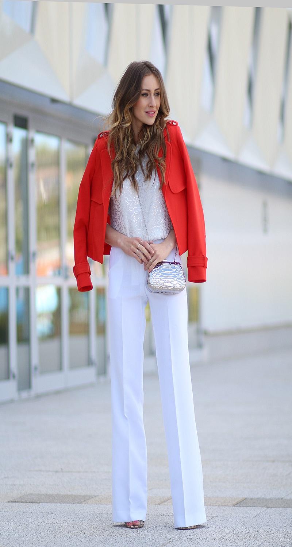 best wearing white pants